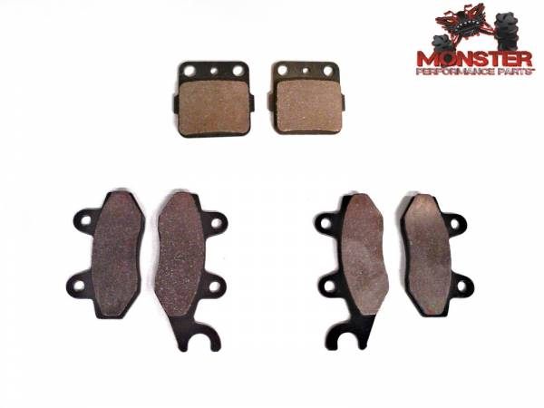 Monster Performance Parts - Monster Brakes Set of Brake Pads replacement for Yamaha 3GD-W0045-00-00, 3GD-W0045-01-00