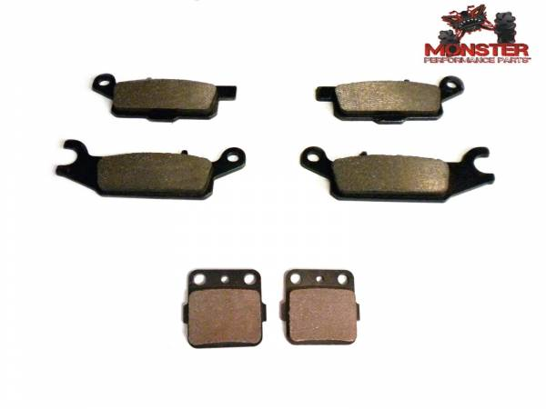 Monster Performance Parts - Monster Brakes Set of Brake Pads replacement for Yamaha 4D3-W0046-50-00, 4D3-W0045-00-00