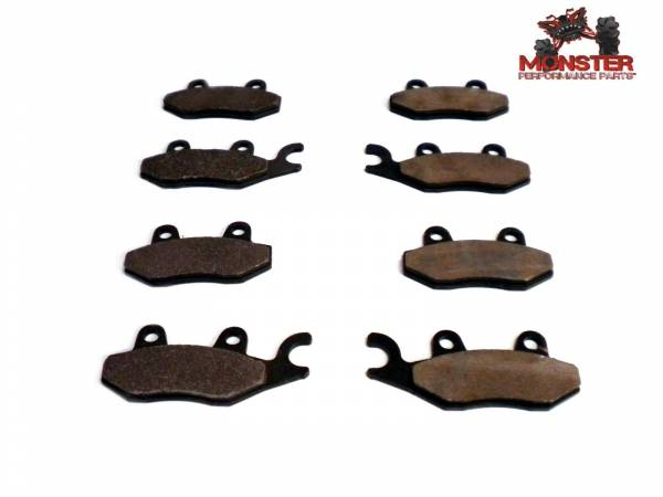 Monster Performance Parts - Monster Brakes Set of Brake Pads replacement for Yamaha 5B4-W0045-00-00, 5B4-W0045-10-00
