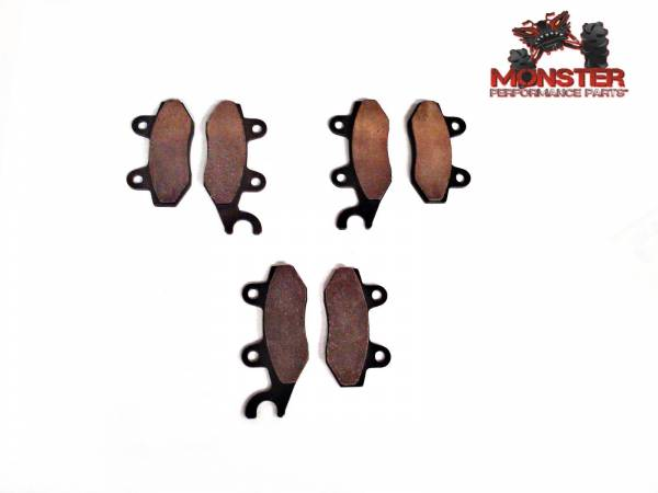 Monster Performance Parts - Monster Brakes Set of Brake Pads replacement for Can-Am 715500335, 715500336