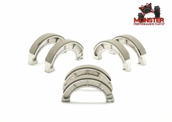 Monster Performance Parts - Monster Brakes Set of Brake Shoes replacement for Yamaha 4BD-W2536-00-00, 4BD-W2536-01-00