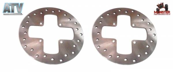 ATV Parts Connection - Monster Brakes Pair Rotors replacement for Can-Am 705600271, 705600604