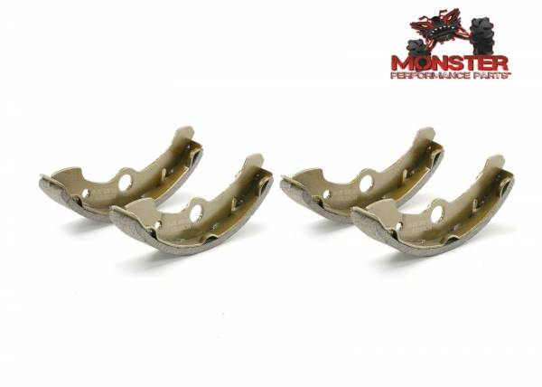 Monster Performance Parts - Monster Brakes Pair of Brake Shoes replacement for Yamaha 3HN-W2535-00-00, 3HN-W2535-10-00