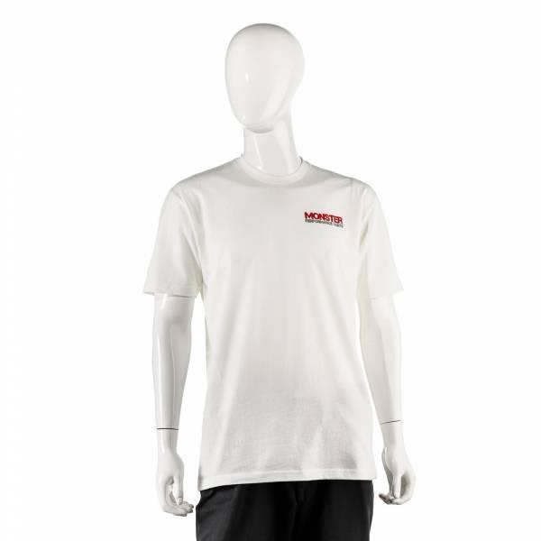 Monster Performance Parts - Monster Performance Parts XXL White Premium Fitted Short-Sleeve Crew Shirt