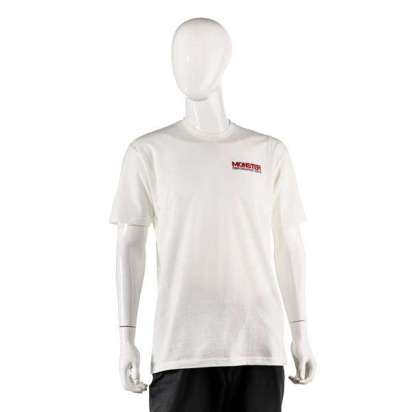 Monster Performance Parts - Monster Performance Parts Large White Premium Fitted Short-Sleeve Crew Shirt