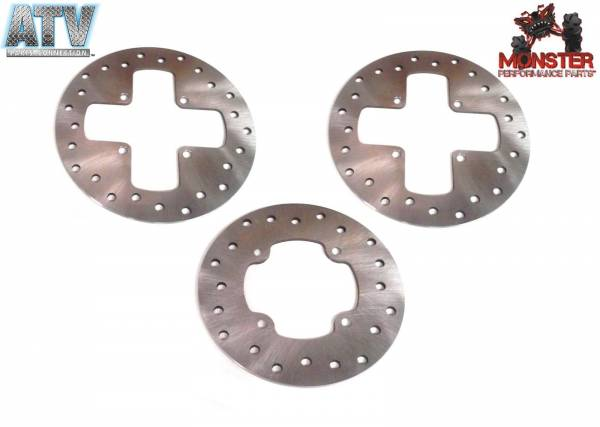 ATV Parts Connection - Monster Brakes Set Rotors replacement for Can-Am 705600603, 705600279, 705600271