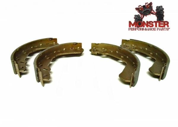 Monster Performance Parts - Monster Brakes Pair of Brake Shoes replacement for Suzuki 54410-39D00, 54400-39840