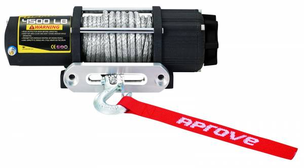 Aprove - Aprove Products 4500 LB Winch with Dyneema Synthetic Rope