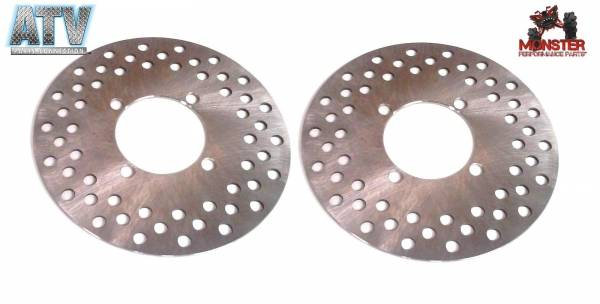 ATV Parts Connection - Monster Brakes Pair Front Rotors replacement for Yamaha 5UG-F582T-00-00, 5B4-F582T-00-00