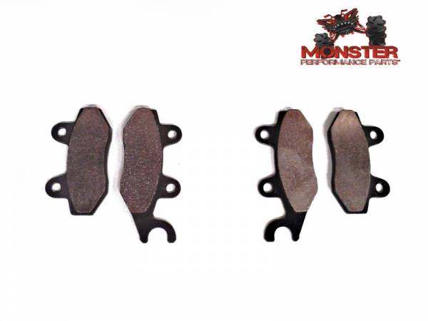 Monster Performance Parts - Monster Brakes Pair of Brake Pads replacement for Yamaha 5B4-W0045-00-00, 5B4-W0045-10-00