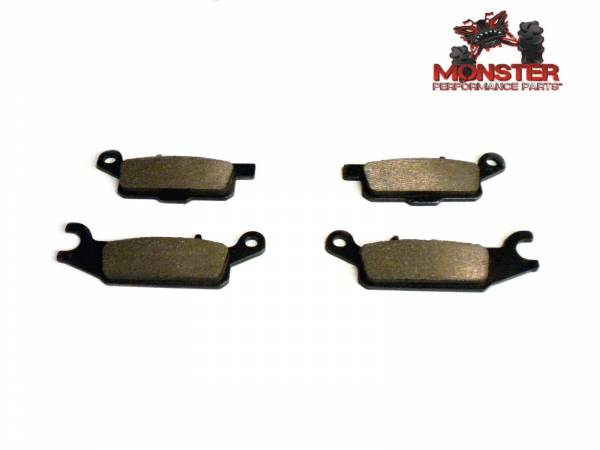 ATV Parts Connection - Monster Brakes Pair of Brake Pads replacement for Yamaha 3B4-W0045-00-00, 3B4-W0045-10-00