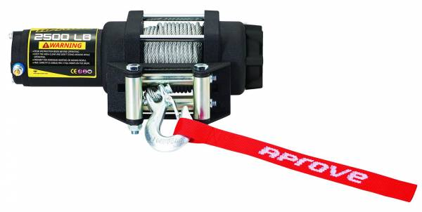 Aprove - Aprove Products 2500 LB Winch with Steel Cable and 4 Way Roller