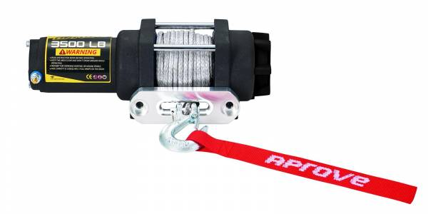 Aprove - Aprove Products 3500 LB Winch with Dyneema Synthetic Rope