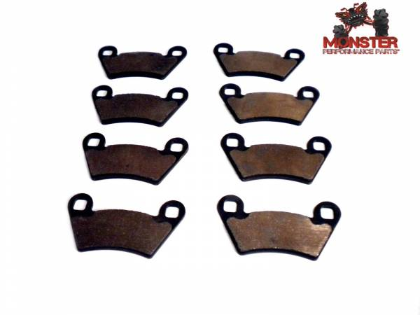 Monster Performance Parts - Monster Brakes Set of Brake Pads replacement for Polaris 2202413, 2202097