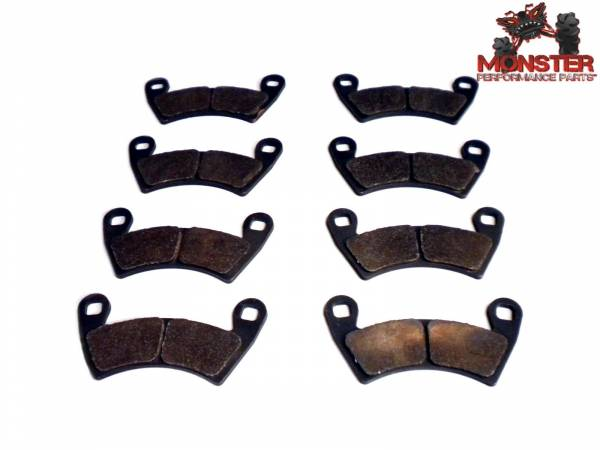 ATV Parts Connection - Monster Brakes Set of Brake Pads replacement for Polaris 2203747, 2205949