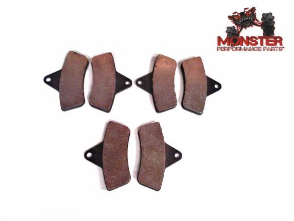 Monster Performance Parts - Monster Brakes Set of Brake Pads replacement for Arctic Cat 0402-096, 0402-882, 0502-019