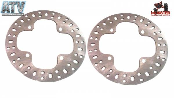 ATV Parts Connection - Monster Brakes Pair of Rotors replacement for Yamaha 3B4-2582V-00-00, 1HP-F582V-00-00