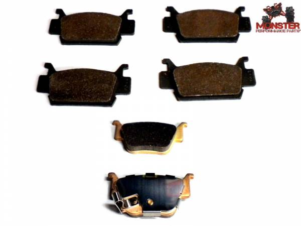Monster Performance Parts - Monster Brakes Set of Brake Pads replacement for Honda 06451-HP0-A01, 06451-HP0-A02