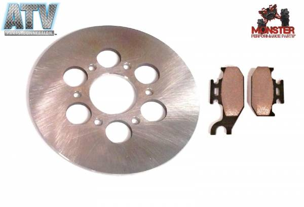 ATV Parts Connection - Monster Brakes Pair Rear Rotor + Pads replacement for Yamaha 5UG-F5831-00-00, 5UG-W0046-00-00