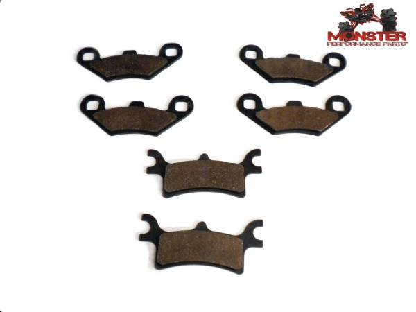 Monster Performance Parts - Monster Brakes Set of Brake Pads replacement for Polaris 2201398, 2202412, 2202414