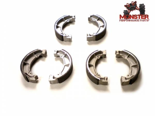 Monster Performance Parts - Monster Brakes Pair of Brake Shoes replacement for Kawasaki 41048-1068, 41048-1062, 41048-1069