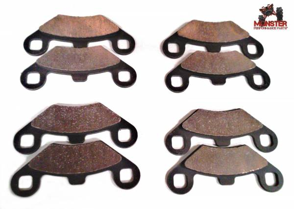 Monster Performance Parts - Monster Brakes Set of Brake Pads replacement for Polaris 2201398 2202412 2203451 2201398