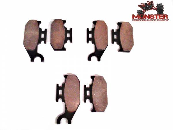 Monster Performance Parts - Monster Brakes Set of Brake Pads replacement for Can-Am/ Bombardier 705600004, 705600014, 705600150
