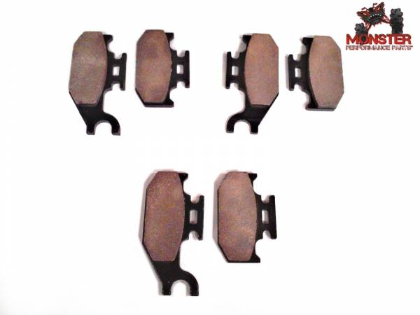 Monster Performance Parts - Monster Brakes Set of Brake Pads replacement for Can-Am 705600349, 705600350, 705600398