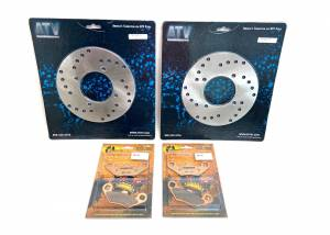 ATV Parts Connection - Monster Brakes Front Set Rotors & Pads replacement for Polaris 5211271, 5211325, 2200465, 1930643 - Image 2