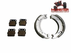 Monster Performance Parts - Monster Brakes Set of Brake Pads & Shoes replacement for Yamaha 4WV-W0045-00-00, 4WV-W2536-00-00 - Image 1