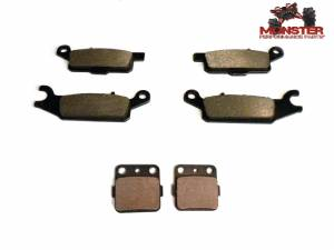 Monster Performance Parts - Monster Brakes Set of Brake Pads replacement for Yamaha 4D3-W0046-50-00, 4D3-W0045-00-00 - Image 1