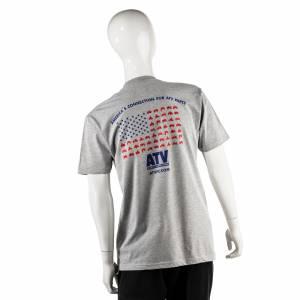ATV Parts Connection - ATV Parts Connection XXL Gray Premium Fitted Short-Sleeve Crew Shirt - Image 2