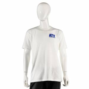 ATV Parts Connection - ATV Parts Connection XXL White Premium Fitted Short-Sleeve Crew Shirt - Image 1