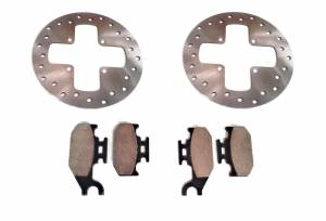 ATV Parts Connection - Monster Brakes Set Rotors & Pads replacement for Can-Am 4x4 705600603, 705600349 705600350 - Image 2