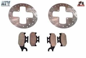 ATV Parts Connection - Monster Brakes Set Rotors & Pads replacement for Can-Am 705600004, 705600014, 705600349 - Image 1
