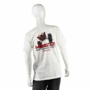 Monster Performance Parts - Monster Performance Parts Medium White Premium Fitted Short-Sleeve Crew Shirt - Image 2