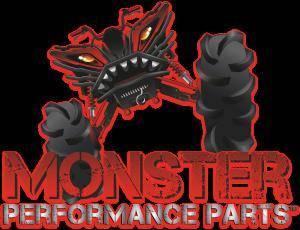 Monster Performance Parts - Monster Performance Parts Medium White Premium Fitted Short-Sleeve Crew Shirt - Image 3