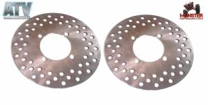 ATV Parts Connection - Monster Brakes Pair Front Rotors replacement for Yamaha 5UG-F582T-00-00, 5B4-F582T-00-00 - Image 1