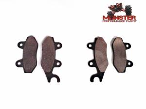 Monster Performance Parts - Monster Brakes Pair of Brake Pads replacement for Yamaha 5B4-W0045-00-00, 5B4-W0045-10-00 - Image 1