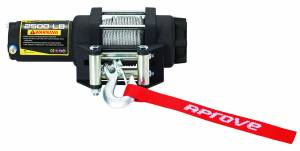Aprove - Aprove Products 2500 LB Winch with Steel Cable and 4 Way Roller - Image 1