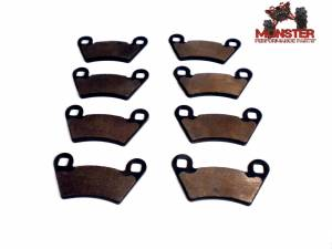 Monster Performance Parts - Monster Brakes Set of Brake Pads replacement for Polaris 2202413, 2202097 - Image 1