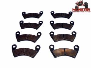 ATV Parts Connection - Monster Brakes Set of Brake Pads replacement for Polaris 2203747, 2205949 - Image 1