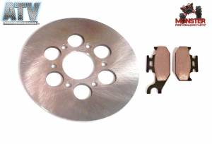 ATV Parts Connection - Monster Brakes Pair Rear Rotor + Pads replacement for Yamaha 5UG-F5831-00-00, 5UG-W0046-00-00 - Image 1